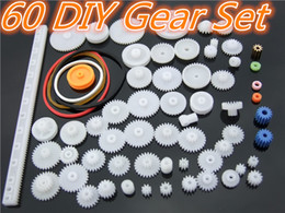 spur gears Australia - 60pcs lot K012b Plastic Gear Set DIY Rack Pulley Belt Worm Single Double Gears Sell At A Loss USA Belarus Ukraine