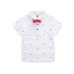 $enCountryForm.capitalKeyWord Australia - Polo High Quality Boys Shirt Baby Boys Clothes Short Sleeve Shirts For Boys Polo Shirt With Bow Tie For Children 2 -8y Summer Clothes