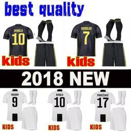 a7375cca5 Best 3A 18 19 kids Soccer jersey 2018 2019 MARCHISIO DYBALA HIGUAIN BONUCCI  boys youth children Football soccer kits uniform with socks