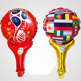China Best Sellers Bar And Group Celebrations Active Balloon Football Court Cheers Color Printed Handheld Metallic Balloons 0 42xd W supplier celebration toys suppliers