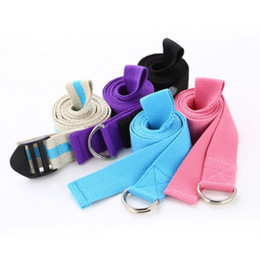 Wholesale Yoga Belt cm Colors Cotton Gym Rope Band Fitness Bands Body Building Sport Yoga Stretch Strap Fitness Exercise