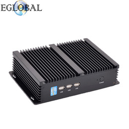 intel core i5 desktop 2019 - Eglobal 4K Barebone Fanless Mini HTPC PC GK-4200U with Intel Core i5 4200U Black Color Aluminum Alloy Industrial Desktop