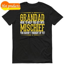 Wholesale Anime Print Tee Grandad Mischief Mens Funny T Shirt Gift Grandad Birthday Fathers Day T Shirt Summer sportwear casual t shirt