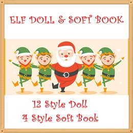 Chinese  Freeship Plush ELF Dolls Red Girl & Boy Figure Christmas elves Soft Cover PET Book of Christmas Novelty Toys Xmas Gift For Kids Holiday Gift manufacturers