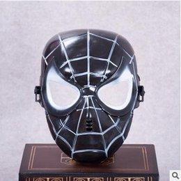 Popolare Maschera di Spiderman Rosso Nero Spiderman Supereroe Mascherina Maschera Masquerady Halloween Maschere Cosplay Partito Del Cliente Novità Maschera Spedizione Gratuita