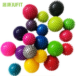 Massage Grip Canada - JUFIT 7.5CM 9.5CM PVC Massage Acupoint Grip Ball Point Nail Fascia Yoga BalL Body Building Hedgehog