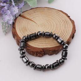 $enCountryForm.capitalKeyWord NZ - Fashion magnet bracelet with simple beaded elastic magnetic bracelet black magnetite healing bracelet ladies hot sell