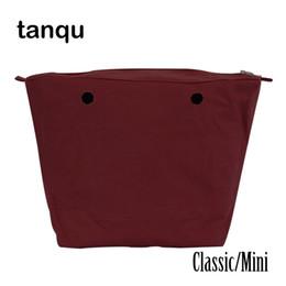 39cfdba36 Tanqu Forro interior impermeable Obag Inserción Bolsillo con cremallera  Clásico Mini Lienzo Bolsillo interior para O Bag Y18102004
