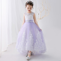 New desigN flower girl dresses online shopping - 2018 New Arrival Beautiful Flower Girls Dresses Ball Gown Design Lace Pageant Gown Corset Back