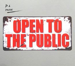 $enCountryForm.capitalKeyWord UK - DL-OPEN TO THE PUBLIC License plate Metal sign shop coffee garage modern wall art