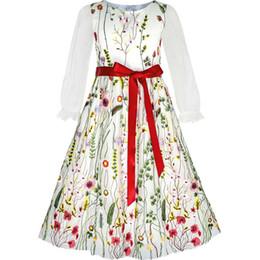 eebc1703 Girls Long Wedding Dresses Size 12 UK - Sunny Fashion Flower Girls Dress  Embroidered Long Sleeve