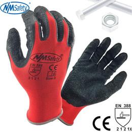$enCountryForm.capitalKeyWord Australia - NMSafety Better Grip Ultra-Thin Knit Latex Dip Nylon Red Latex Coated Work Gloves luvas de couro D18110705