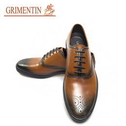 Grimentin Shoes UK - GRIMENTIN Hot sale brand mens shoes Italian fashion designer man oxford shoes genuine leather formal business casual male dress shoes