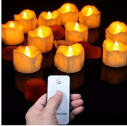 $enCountryForm.capitalKeyWord NZ - (12 pieces) Small Flickering Decorative Candles With Remote Control,Yellow Red Bright Fake Tea Lights For Birthday,Love