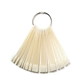 Chinese  ROSALIND 50pcs False Nail Display Fan Board Nail Art Tips Polish UV Gel Decoration Practice Round Hoop Display Stick Clear manufacturers