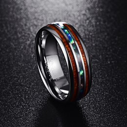Discount gypsy cluster ring - Customized T025R full polished artichoke abalone shell tungsten steel ring