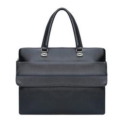 Hard Laptops Australia - High Quality Men Leather Briefcase Vintage Handbag Mens Briefcases for men Laptop Messenger Mens Business Bag