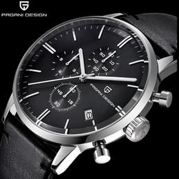53506039946e Top marca de lujo PAGANI diseño cronógrafo cuero hombres relojes de cuarzo  moda deporte reloj de pulsera hombres relogio masculino