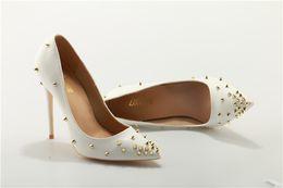 Sexy Spinks Women Pumps Ladies Wedding Shoes Woman Thin High Heels Black  Patent Leather Dress 12CM Stilettos Sole Plus Size 36-45 d5b52cd15e9d