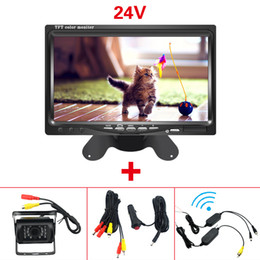 """$enCountryForm.capitalKeyWord NZ - CAR DC 9V-36V Bus Truck 7"""" LCD Monitor With Rear View Parking Camera Video System 2.4G Wireless & Cigarette Lighter Optional #5438"""