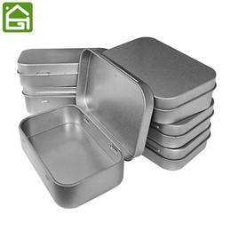 Vente en gros Ensemble de 12 contenants en métal à charnière en métal à charnière Haut Conteneurs de rangement portatifs à boîte en métal avec couvercles