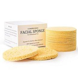 Esponjas Faciais de Celulose Naturais Comprimidos (50 Contagem) 65mm * 10mm Esponja Comprimida para Uso Profissional 50 pçs / set 3006084
