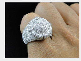 Diamond ring with tiny diamond European and American men's fashion accessories on Sale