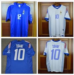 a720464a5 Retro jerseys 2002 World cup France Home Away Blue White Zidane Henry  Trezeguet 02 jersey shirt