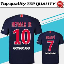 0c331aed07d 2019  10 NEYMAR JR PSG Home Soccer Jersey 18 19  7 MBAPPE blue Soccer Shirt   9 CAVANI Paris Saint-Germain Football Uniform 2018 Size S-4XL