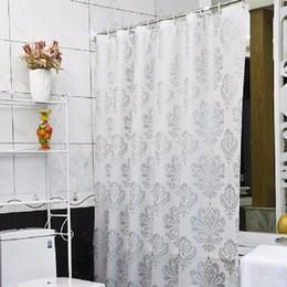 Tenda da bagno PEVA Tende da doccia in plastica anti-muffa impermeabile ecologica Tenda da bagno con gancio Tenda da doccia # 20 in Offerta