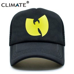 f7c4c4bf8d955 CLIMATE New Men Trucker Cap Rapper Wutang Hiphop Cap GZA WU-TANG CLAN Fans  Summer Cool Black Baseball Mesh Caps Hat For Men