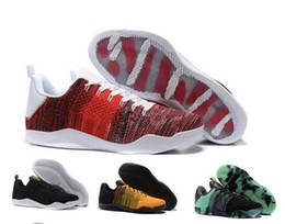 low priced c626d b8e13 Nike Kobe 11 Elite Low Männer KB Kobe Bryant Ad 11 X1 Basketball Schuhe 11  XI Elite Schwarz Gold Grau Gelb Kobes Sport Turnschuhe Weben KB 11 11s  Stiefel ...