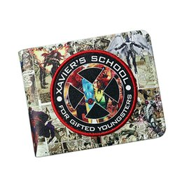 Marvels wallet online shopping - New Marvel Anime Super Hero Wallet Cool Xmen Wallet Student School Credit Card Holder Purse Men Short Wolverin X MEN Bifold