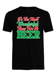 Wholesale Most Wonderful Time For Beer Funny Christmas T Shirt X Mas Beer Gift T Shirt