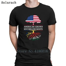 9be8b57e7b0b4 American Grown Seychellois Roots Seychelles T-Shirt Cotton Pattern  Breathable Men Tshirt Size S-3xl Knitted Kawaii