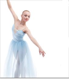 $enCountryForm.capitalKeyWord NZ - New Ballet Contemporary dance dress adult dance veil show costume sky blue strap skirt performance costumes