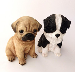 pug home decor Australia - creative resin Pugs dog figurines vintage dog statue home decor crafts room decoration resin animal figurine Border Collie gifts