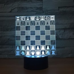 $enCountryForm.capitalKeyWord Canada - Chess 3D Optical Illusion Lamp Night Light DC 5V USB Powered 5th Battery Wholesale Dropshipping Free Shipping
