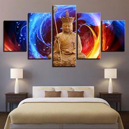 $enCountryForm.capitalKeyWord Australia - Canvas Paintings Wall Art 5 Pieces Kind Of Ksitigarbha Bodhisattva Pictures Modular HD Prints Buddha Posters Living Room Decor
