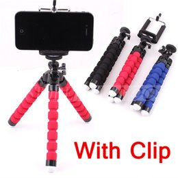 Wholesale Flexible Tripod Holder For Cell Phone Car Camera Universal Mini Octopus Sponge Stand Bracket Selfie Monopod Mount With Clip