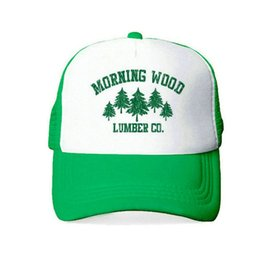Chinese  Drop Shipping Morning Wood Lumber Company Trucker Hat Men Women Lumberjack Outdoors Cap Adult Breathable Snapback Hat Cap YY405 manufacturers
