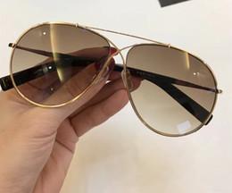 blue mirrored designer sunglasses 2019 - Luxury 374 Sunglasses For Women Designer Fashion Popular 0374 Retro Style UV Protection Lens Oval Full Frame Top Quality