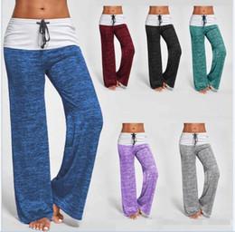 c6d1572c0c Pantalones de entrenamiento de yoga de las mujeres Ejercicio de deportes  Fitness Running Pantalones de trotar