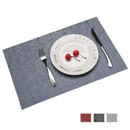 $enCountryForm.capitalKeyWord UK - 2 4 6pcs Set PVC Rose Flower Pattern Table Placemats Coaster Bowl Pad Tableware Dinnerware 30*45cm Mat Kitchen Accessories