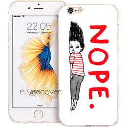 China Cartoon Nope Art Clear Soft TPU Silicone Phone Cover for iPhone X 7 8 Plus 5S 5 SE 6 6S Plus 5C 4S 4 iPod Touch 6 5 Cases. suppliers