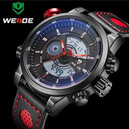 Weide Watch Men Military Australia - 2017 NEW WEIDE Luxury Brand Men's Quartz LED Watches Men Fashion Casual Sports Clock Genuine Leather Military Wrist Watch S1019