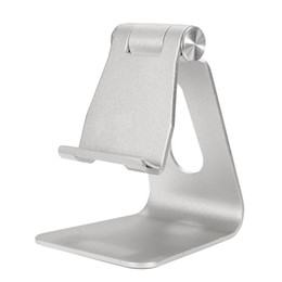 aluminium phone stand UK - Freeshipping Universal Aluminum Table Desk Mount Stand Holder Cradle for Tablet Mobile Phone