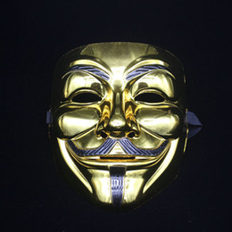 V Vendetta Cosplay UK - Plating Party Masks V for Vendetta Party Cosplay Mask Anonymous Guy Fawkes Fancy Dress Adult Costume ZA6886