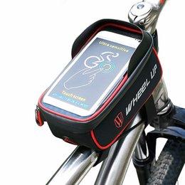 bicycle phone holders waterproof 2019 - WHEEL UP Rainproof Front Zipper Bike Bag Bicycle TPU Touch Screen Phone Bags cycling Frame Holder Bag waterproof phone c