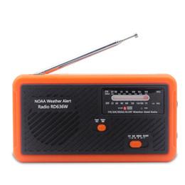 Radio météo NOAA avec alarme Main multifonctionnelle à manivelle Dynamo Dynamo AM / FM / NOAA Utilisation LED d'urgence Lightflash Outdoor